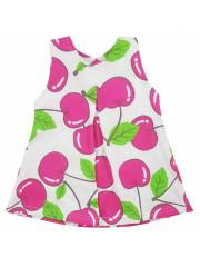 Dětské letní šatičky bez rukávů Koala Cherry bílo-růžové vel. 68