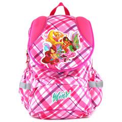 Školní batoh Winx Club - Růžové kostky