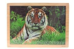Puzzle dřevěné tygr 25 dílků