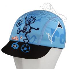 Funkční letní kšiltovka Coolmax RDX s UV filtrem fotbal modrá