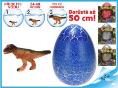 Dinosaurus líhnoucí a rostoucí ve vajíčku MEGA 20cm