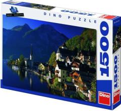 Puzzle Vesnička u jezera 84x60cm 1500 dílků