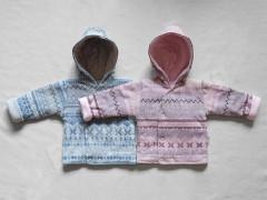 Zimní termokabátek s podšívkou a kapucí Etnik Baby Service vel. 56 - 74