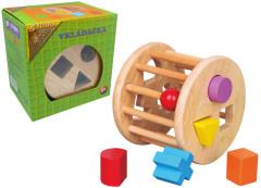 Dřevěná vkládačka tvary kolo