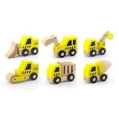 Dřevěný set stavebních aut Viga