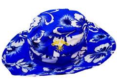 Dětský UV klobouček Baby Banz květ modrý 0-2 roky