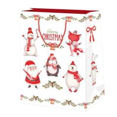 Vánoční dárková taška 19,5 x 28 cm Merry Christmas
