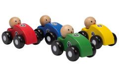 Dřevěná závodní autíčka