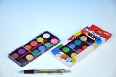 Vodové barvy 12 barev v krabičce