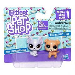 Littlest Pet Shop Dvě zvířátka - FRILLY LEPAPILLON a PITLEY BULLBURY