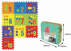 Pěnové puzzle podložka Počítání 30 x 30 cm