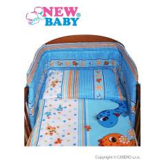 2-dílné ložní povlečení New Baby 90/120 cm modré s dinem