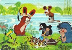 Pěnové puzzle Krtek a kamarádi zachraňují myšku 24dílků