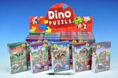 Puzzle Dinosauři 60 dílků+figurka v krabičce
