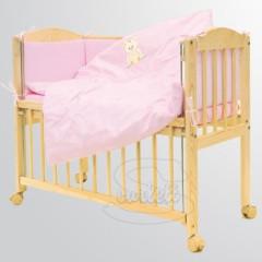 Souprava 7 dílná do postýlky Baby Scarlett Méďa růžový
