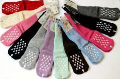 Kojenecké vlněné teplé ponožky s protiskluzem vel. 3 (23-25)