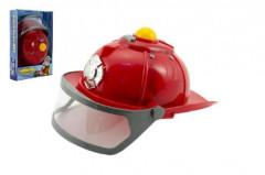 Helma přilba hasič 28cm na baterie se světlem se zvukem