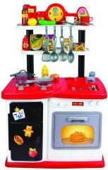 Kuchyňka plastová 97,8x37,5x62,9cm na baterie se zvukem se světlem a příslušentvím