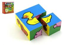 Kostky kubus dřevené Moje první zvířátka 4 ks
