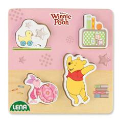 Dřevěné puzzle medvídek Pů s prasátkem