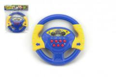 Plastový volant na baterie se zvukem 20 cm modrý
