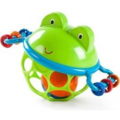 Hračka žabka Oball Jingle&shake 0m+
