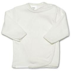 Kojenecká košilka zavinovací vel. 68 PROUŽKY BÍLÁ