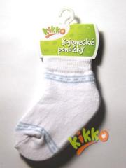 Kojenecké ponožky bavlna KIKKO 6-12 m bílo-modré typ 34