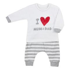 Kojenecké tepláčky a tričko Koala Mum and Dad