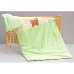 Dětské povlečení 2dílné Bertík - zelené 100 x 135 cm