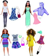 Barbie modelka s oblečky a doplňky