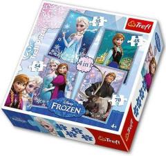 Puzzle Ledové království Frozen 4v1