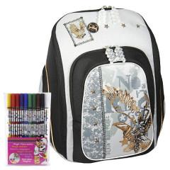 Školní batoh Cool Cherry set + Fixy Diddl