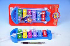 Xylofon, 6 kláves - plast/kov