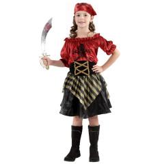 Karnevalový kostým PIRÁTKA,Vel. 110-120 cm