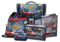 Školní aktovkový set City Cars 5-dílný