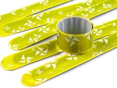 Reflexní samonavíjecí náramek žlutá 3 x 30 cm