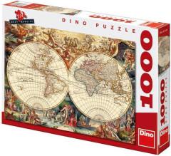 Puzzle Historická mapa 66x47cm 1000 dílků
