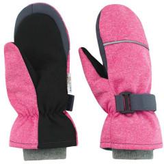 Dětské zimní rukavice Softshell Růžový melír Esito