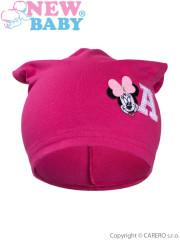 Podzimní dětská čepička New Baby Minnie růžová vel. 110