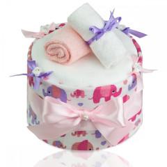 Plenkový dort velký T-tomi, růžový slon