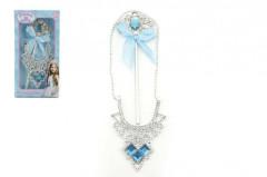 Sada princezna plast 2ks náhrdelník + hůlka