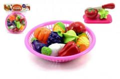 Krájecí ovoce a zelenina v košíčku s nádobím 12 ks