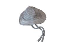 Kojenecký zavazovací bavlněný klobouček Hvězdičky a Proužky Baby Service