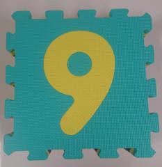 Pěnové puzzle Čísla 30x30cm 10ks