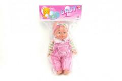 Panenka/miminko měkké tělo plast 30cm na baterie se zvukem v sáčku