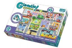 Puzzle zvířátka Gigantic Město 12 ks
