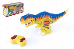 Dinosaurus chodící RC 38cm na baterie se zvukem se světlem 2,4GHz