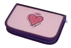 Školní pouzdro 1-klopa 01 Deluxe prázdné Amor fialová Emipo