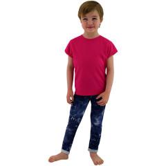 Dětské tričko jednobarevné Malinové